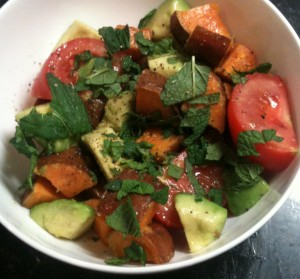 Avocado, Tomato and Sweet Potato Salad