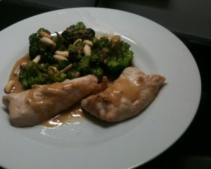 Chicken and Broccoli Satay